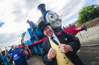 Thomas the Tank Engine visits the Stephenson Railway Museum