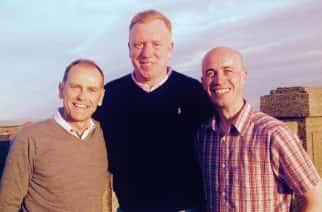 Sunderland stars: From L-R: Jeff Brown, David Corner and Paul Dunn.  Photo by Vanessa Karon.