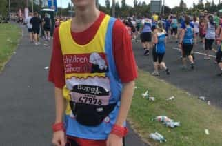 Kieran Carr, 20, from South Shields during the Great North Run in 2014/photo by Kieran Carr.