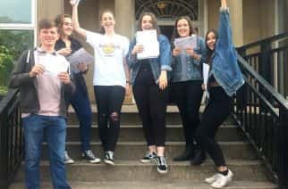 Grindon Hall Christian School celebrate their GCSE results on 24/07/2017. Photo credit: Grindon Hall Christian School.