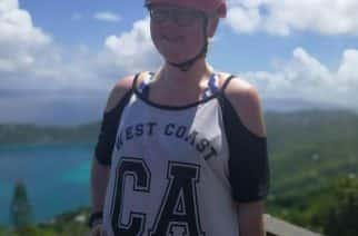Rebekah Kitchell on holiday in the Caribbean/photo by Rebekah Kitchell.