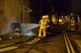 Residents of Gateshead cry blue following bin arson