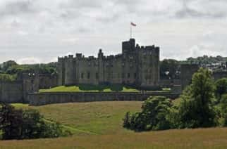 Alnwick Castle, Northumberland where filming of the final season of Downton Abbey, due to be aired in the autumn, is taking place.