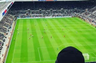 Perfect view of St James' Park from the away end. (@harrywilsonshield)