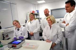 From L-R Stacey Weatherson, Sarah Lee Nicholson, Alan Shearer, Lady Elsie and Steve Harper at the Proximity