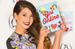 YouTube star Zoe Sugg, aka Zoella, at the launch party for her book 'Girl Online' at 80 Strand, in central London.