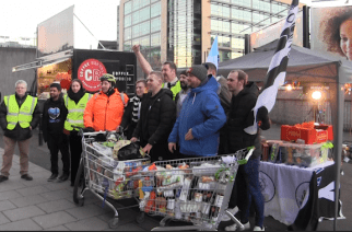 Newcastle United fans push trolleys full of food to St James' Park in aid of Newcastle West End Food Bank