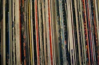 "A collection of 12"" and LP vinyl records."