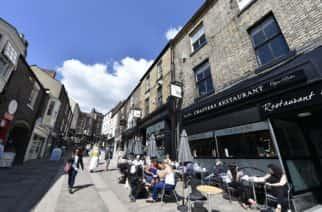 Durham city centre in Durham, County Durham.