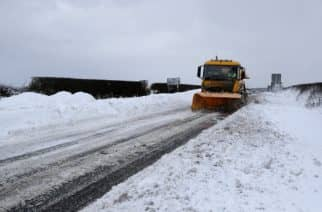Vehicles travel on the A192 near Seaton Delaval, as storm Emma, rolling in from the Atlantic, looks poised to meet the Beast from the East's chilly Russia air - causing further widespread snowfall and bitter temperatures.