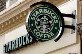 A Starbucks coffee shop in South Kensington in west London.