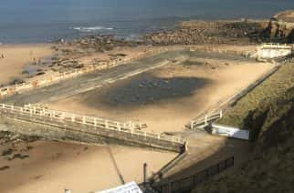 Old outdoor swimming pool in Tynemouth