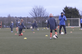 The Wizards training session taking place at Mortimer Community College