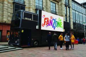 Sunderland sports fans get chance to watch World cup and Wimbledon on double decker bus