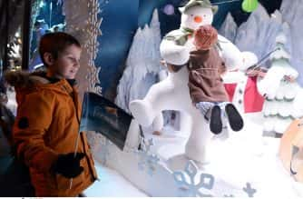 Date 02/11/2018 FENWICK WINDOW 2018  The launch of Fenwick Window 2018, which this year is the Snowman.