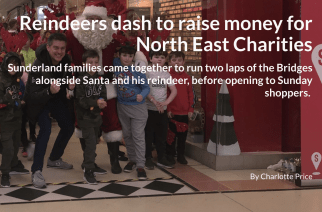 Reindeers dash to raise money for North East Charities