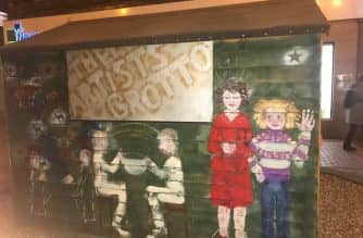 Garden shed transformed into an artist's grotto in Sunderland