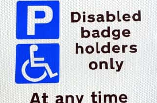 Embargoed to 0001 Monday December 31 File photo dated 20/09/16 of a disabled parking sign, as most councils failed to take action against a single motorist for misusing disabled parking permits in the past 12 months despite thefts soaring, figures show.