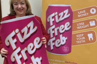 MP Sharon Hodgson taking part in Fizz Free February