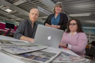 SMART (Social Media Abuse Research Tool) Principal Investigator Dr John Price, with co-investigators Professor Lynne Hall and Dr Kate MacFarlane at Sunderland University Picture: David Wood