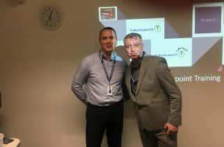 Ex-offender and former prison officer talk to Sunderland students about their scheme to rehabilitate offenders