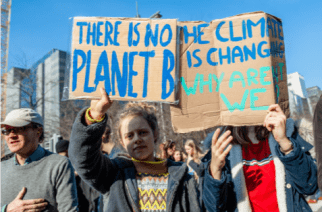 Students at the Youth Strike for Climate Change