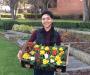Sunderland university student brightens up campus with flowers to raise environmental awareness