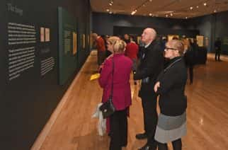 Visitors at the Leonardo Da Vinci exhibition at Sunderland Museum and Winter Gardens