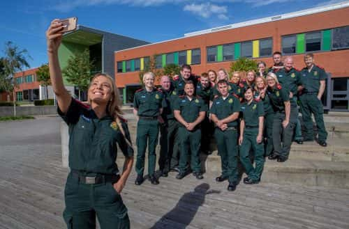 Paramedic students at Sunderland University Picture: DAVID WOOD