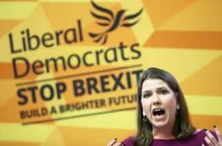Liberal Democrat leader Jo Swinson makes a speech at Prince Philip House in Westminster, London, whilst on the General Election campaign trail.