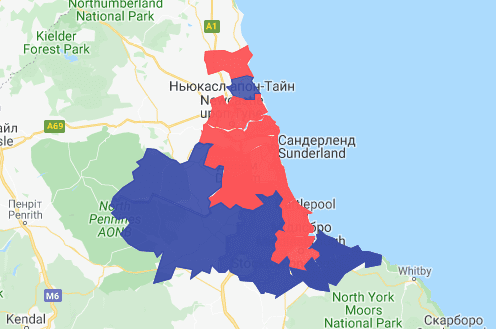 Interactive map: The North East's new political landscape