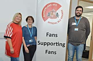 SAFC Branch Liaison Officier Joanne Youngson with SAFC's Boldon Branch.
