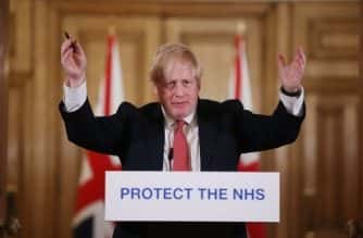 Prime Minister Boris Johnson speaks during a media briefing in Downing Street, London, on coronavirus (COVID-19).