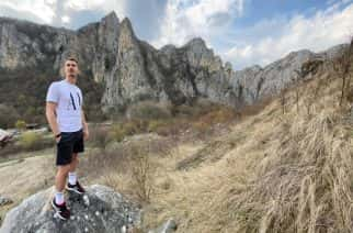 UoS graduate Tudor Tamas out in the mountains of home before the coronavirus lockdown came into force.