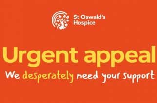 St Oswald's Hospice is appealing for crucial funds, after having to cancel its normal fund-raising activites due to the coronavirus crisis.