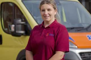 Sunderland University paramedic student Kay Norris outside UoS's Helen McArdle House. Picture: DAVID WOOD