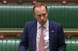 Health Secretary Matt Hancock addresses developments on Covid-19 in the House of Commons.
