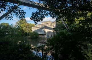 A general view of Dunelm House the Student Union building of Durham University framed by Kingsgate Bridge, Durham during a local lockdown imposed by the UK government in an attempt to stop the spread of COVID 19 (Photo by Mark Fletcher/MI News/NurPhoto)