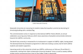 LGBTQ+ History Week hits Newcastle University