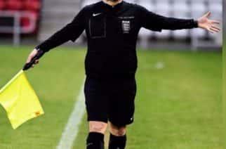 Referee Peter Quinn at the Stadium of Light