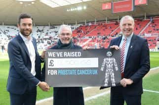 Maurice Hepworth helped to raise money for Prostate Cancer UK through his work with the Sunderland AFC Former Player's Association.