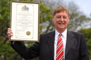 Hays Travel boss John Hays pictured receiving the Freedom of Sunderland in 2016.