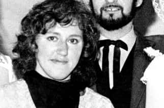 Peter Sutcliffe (r), the Yorkshire Ripper, with his wife Sonia (l)