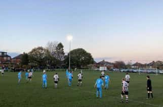 Heaton Stannington in action against Crook Town in the EBAC Northern League 2 before the second lockdown took place