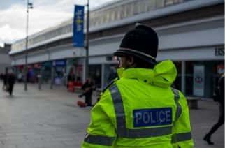 A Northumbria Police officer in Sunderland city centre.