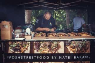 Chef Baran hosting one of his street food events.
