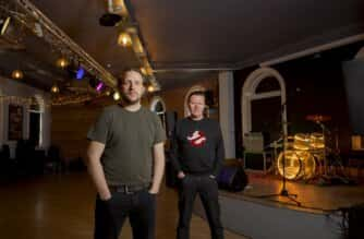 Frontmen Barry Hyde (The Futureheads) and Dan Donnelly (Celtic Social Club) at the converted Peacock pub in Sunderland - home to the city university's new Modern Music Industries degree course.  Picture: David Wood