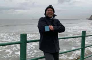 Sunderland swimmers take a dip in the freezing North-Sea to stay healthy amidst the Pandemic