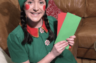 Northumberland self-employed performer starts door-to-door elf telegram service after losing all gigs to Covid