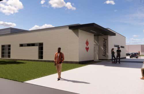 An artist impression of new cadaveric centre at the University of Sunderland.